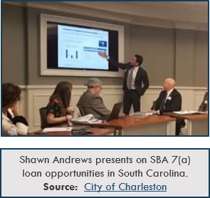 shawn andrews presents on sba 7(a) loan opportunities in south carolina